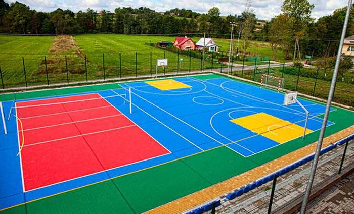 Suelos de vinilo y suelos de goma supreme floors for Backyard multi sport court