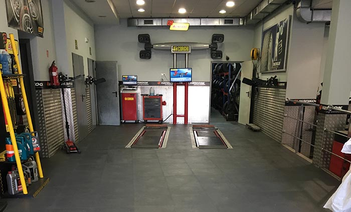 Pavimento talleres mecanicos - Suelo taller - Traficline