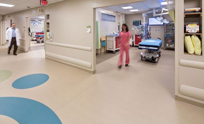 pavimento pasillo hospital Vita